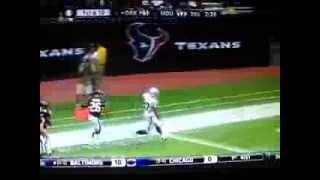 Touchdown Oakland Raiders vs Texans. Wildcat da 80 yards (Rashad Jennings)