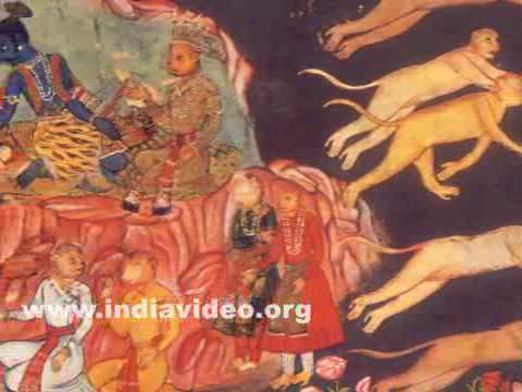 Monkeys in search for abducted Sita, scene from Ramayana