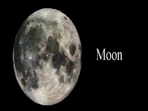 an analysis of the moon as the natural satellite of earth