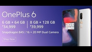 OnePlus 6 Silk White, 8GB RAM, 128GB Storage Mobile Specifications