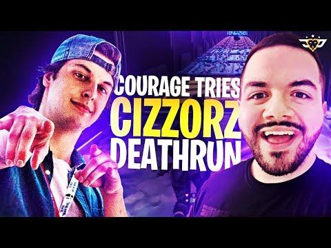 COURAGE TRIES CIZZORZ DEATHRUN! ***IMPOSSIBLE*** (Fortnite: Battle Royale)