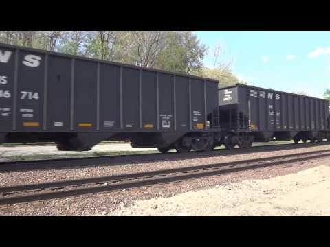 Shirley, MA: Norfolk Southern Coal Train (8337, 9286, 7566) Near Shirley Station