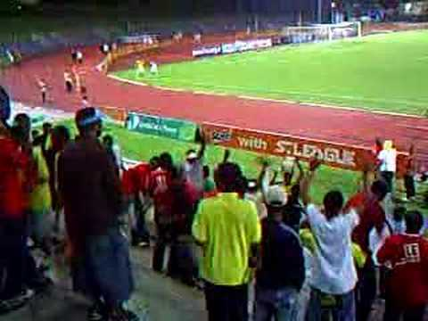 sporting Afrique's fans cheering