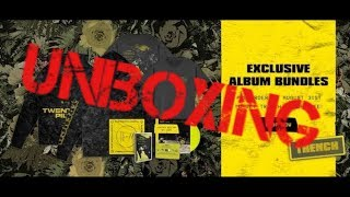 Unboxing the Ultimate Trench Merch Bundle by twenty one pilots (with patch)