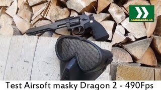 Airsoft Maska Dragon Test 2 so silou 490Fps