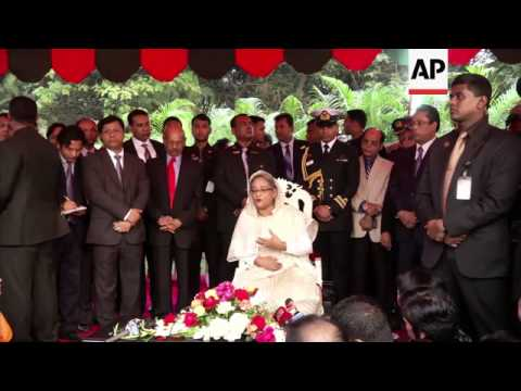 Sheikh Hasina sworn in for second straight term as prime minister