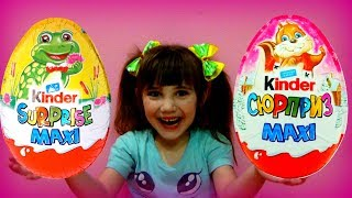 Learn colors with Kinder Surprise Eggs