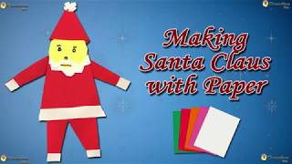 Making Santa Claus with Paper | How to Make a Paper Santa | Creative kids