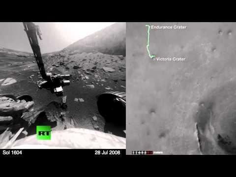 NASA's Mars Opportunity rover completes marathon 26-mile trek