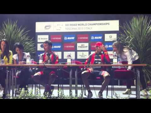 Rui Costa, Joaquim Rodriguez, Alejandro Valverde #Toscana2013 World Championships press conference