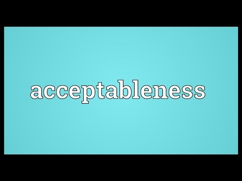 Header of Acceptableness