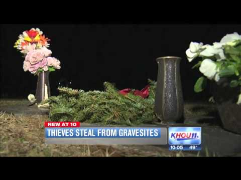 3 charged with stealing items from cemeteries in Greater Houston area