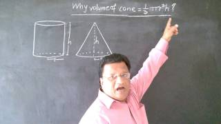 How to find Volume of Cone, Curved surface area of cone, Total surface area of cone