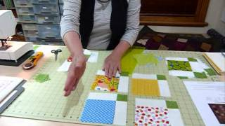 "How to Simply Sash 5"" Squares - Quilting Tips & Techniques 054"
