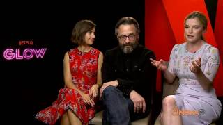 """Alison Brie, Betty Gilpin and Marc Maron talk Netflix's new wrestling series """"GLOW"""""""