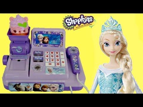 FROZEN Cash Register with Olaf, Princess Anna & Queen Elsa Toys