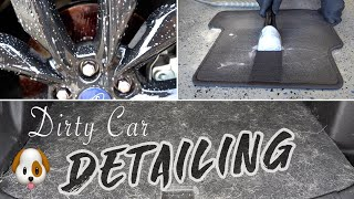 DIRTY CAR DETAILING | Complete Vehicle Transformation & Pet Hair Removal!