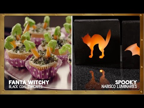 Fanta Witchy Black Coal Cupcakes + Spooky NABISCO Luminaries