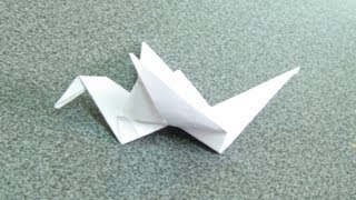 Origami Dove Hand-made ​​of Paper (Оригами голубь)