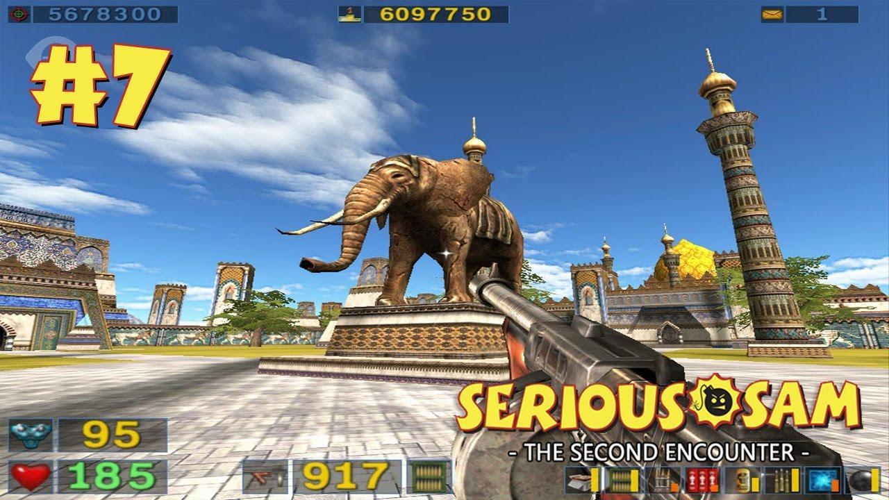 Serious Sam: The Second Encounter прохождение игры - Уровень 7: Атриум Слонов (All Secrets Found)