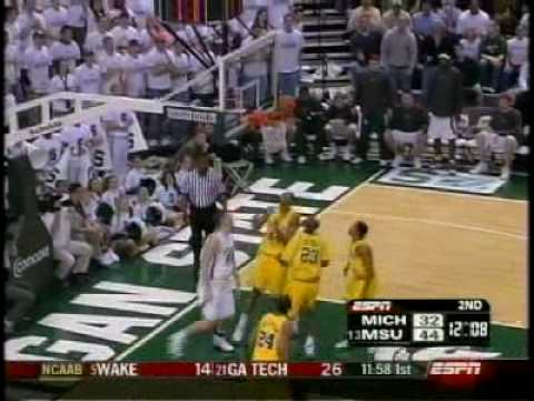 Michigan State Spartans Basketball v Michigan '05 Game 1 Video