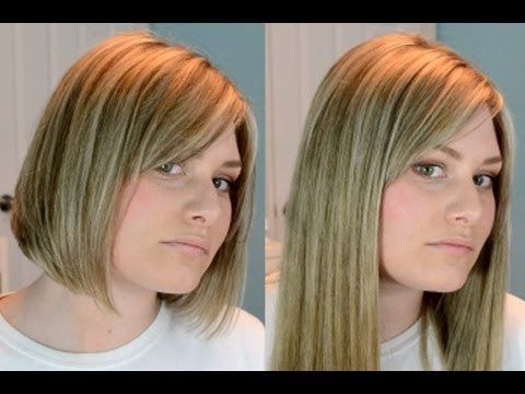 Clip Extensions In Short Blunt Hair! - YouTube