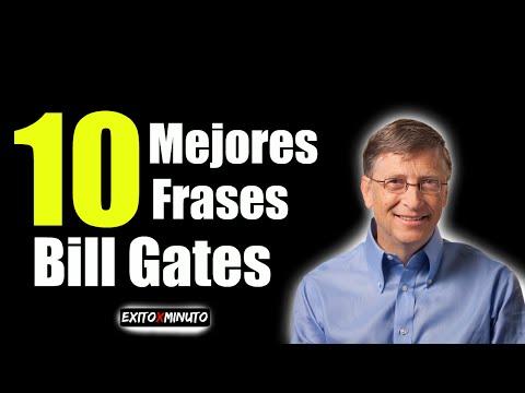 Las 10 Mejores frases de Bill Gates - #Motivación