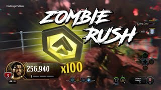 """""""MULTIPLICITOUS & """"HIGH SCORE"""" TROPHY IN ONE GAME - SOLO   """"ZOMBIE RUSH""""    COD BLACK OPS 4"""