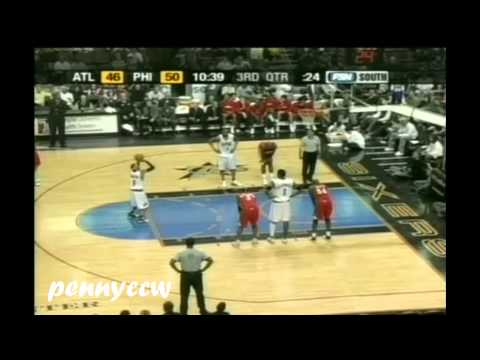 Allen Iverson, A.Iguodala, K.Korver EXCITING Highlights vs the Hawks 04/05 NBA