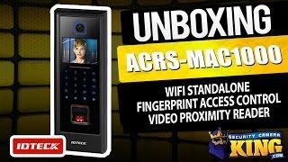 Unboxing - ACRS-MAC1000 - WIFI Standalone Fingerprint Access Control Video Proximity Reader