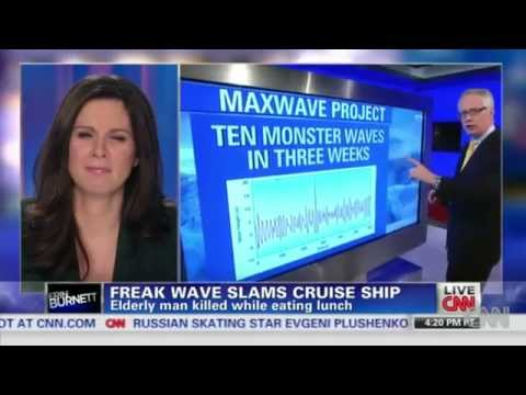 CRUISE SHIP Hit by 80 FOOT HIGH WAVE