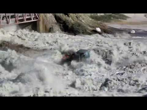 Greenland Climate Change - Kangerlussuaq 2012 - Watson River Glacial Melt - Summer tractor