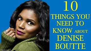 Denise Boutte |Ten things to know about Sasha on the Tyler Perry series Meet the Browns