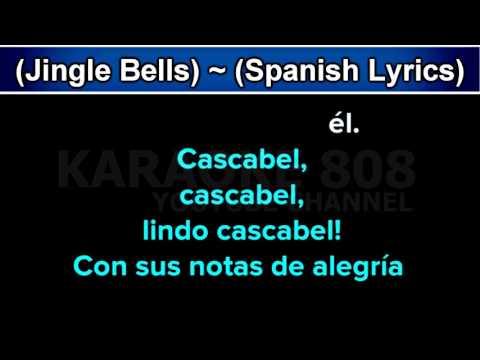Cascabel Jingle Bells ~ Holiday Spanish Lyrics Karaoke Version ~ Karaoke 808