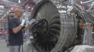 Rolls Royce Trent production of turbojet engines