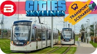 Cities Skylines Gameplay - TRAMS FOR TOURISTS (Cities: Skylines TRANSPORT Scenario) #8