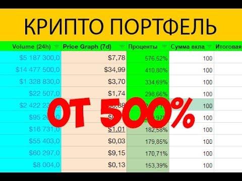 500% доходность! Как грамотно составить крипто портфель!