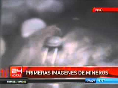 Mineros de Chile_primeras imagenes mineros atrapados en la mina San Jose