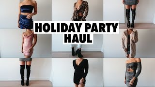 AFFORDABLE HOLIDAY PARTY TRY ON HAUL 2018