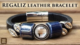 REGALIZ CLASSIC - a bracelet with your own hands (REGALIZ classic leather bracelet DIY)