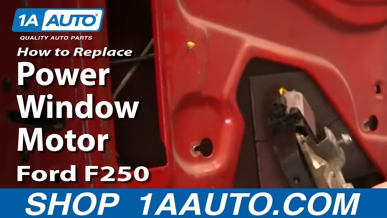 How To Install Replace Power Window Motor Ford 99 07 F250