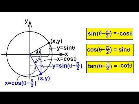 PreCalculus - Trigonometry (22 of 54) Reduction Formula (4 of 4) Subtract pi/2