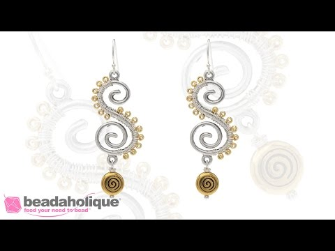 How to Make the Serpentine Spiral Earrings