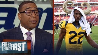 Cris Carter warns Marcus Peters ahead of Rams-Saints 'gumbo date' rematch | NFL | FIRST THINGS FIRST