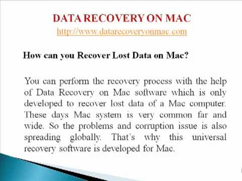 How Data Recovery on Mac works