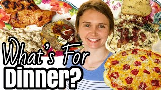What's For Dinner?   SEVEN Easy Budget Friendly Meals   Simple Dinners   Julia Pacheco