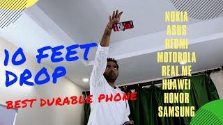 10 Feet DROP Test ! Nokia 3310 vs RealMe 3 | Pro vs Honor 8x vs Zenfone Max Pro M2 | Durability Test