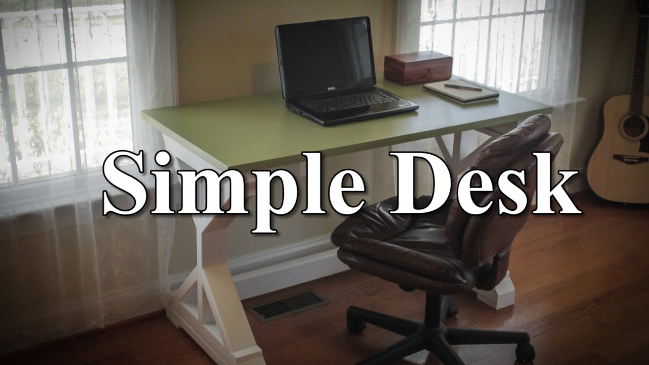 Simple Desk (with plans) - YouTube