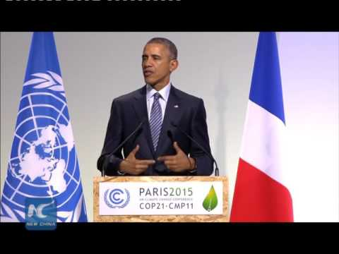 Barack Obama's full speech at Paris climate summit