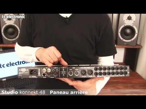 interface audio Studio Konnekt 48 de TC Electronic : entrées et sorties analogiques, numériques, et MIDI